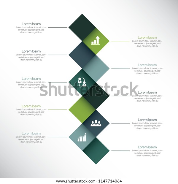 Creative infographic design template with squares and text boxes