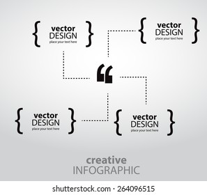 Creative infographics for quotations. Vector art.