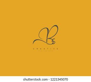 Creative Initial Letter Bs Logo Manual Elegant Minimalist Signature Logo