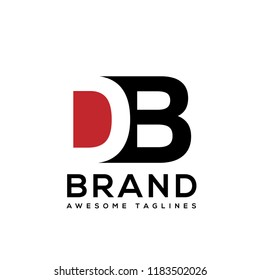 creative initial letter d and b logo vector template element
