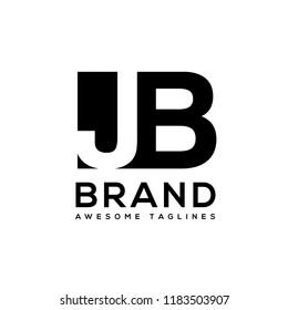creative initial letter j and b logo vector template element