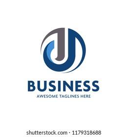creative initial letter j logo vector concept element
