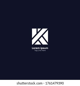 Creative initial letter K logo icon design template elements.