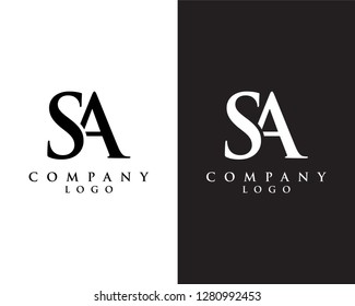 creative Initial letter sa/as abstract Company logo design. vector logo for company identity