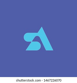 Creative Initial letter SA/AS abstract Vector logo for company identity. lowercase s and a vector logo. sa initial design template. Vector illustration