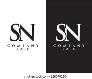 creative Initial letter sn/ns abstract Company logo design. vector logo for company identity