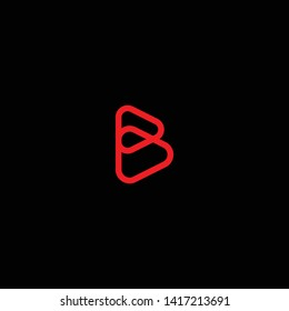 Creative Innovative Initial Letter logo BB B with Black Background