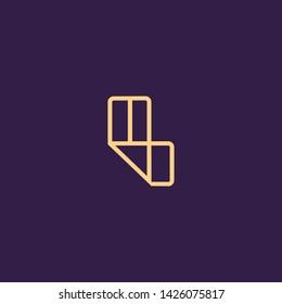 Creative Innovative Initial Letter logo LL L. Minimal luxury Monogram. Professional initial design. Premium Business typeface. Alphabet symbol and sign.