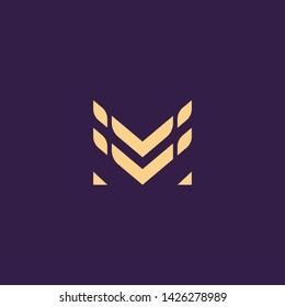 Creative Innovative Initial Letter logo MM M. Minimal luxury Monogram. Professional initial design. Premium Business typeface. Alphabet symbol and sign.