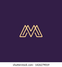 Creative Innovative Initial Letter logo MM M. Minimal luxury Monogram. Professional initial design. Premium Business typeface. Alphabet symbol and sign.