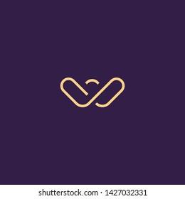 Creative Innovative Initial Letter logo WW W. Minimal luxury Monogram. Professional initial design. Premium Business typeface. Alphabet symbol and sign.