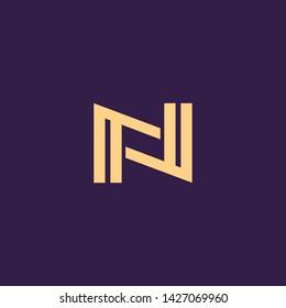 Creative Innovative Initial Letter logo NN N. Minimal luxury Monogram. Professional initial design. Premium Business typeface. Alphabet symbol and sign.