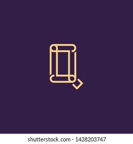 Creative Innovative Initial Letter logo LQ QL QQ Q. Minimal luxury Monogram. Professional initial design. Premium Business typeface. Alphabet symbol and sign.