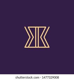 Creative Innovative Initial Letter logo BB. Minimal luxury Monogram. Professional initial design. Premium Business typeface. Alphabet symbol and sign.
