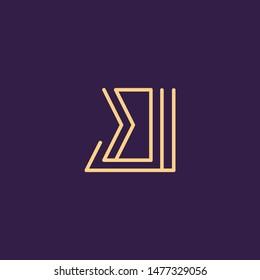 Creative Innovative Initial Letter logo BJ JB. Minimal luxury Monogram. Professional initial design. Premium Business typeface. Alphabet symbol and sign.