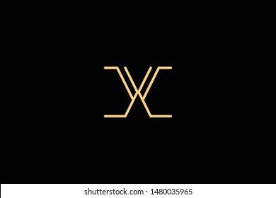 Creative Innovative Initial Letter logo CC X. Minimal luxury Monogram. Professional initial design. Premium Business typeface. Alphabet symbol and sign.