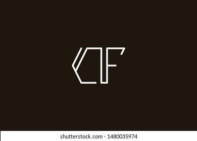 Creative Innovative Initial Letter logo CF FC. Minimal luxury Monogram. Professional initial design. Premium Business typeface. Alphabet symbol and sign.