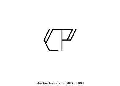 Creative Innovative Initial Letter logo CP PC. Minimal luxury Monogram. Professional initial design. Premium Business typeface. Alphabet symbol and sign.