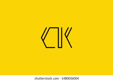 Creative Innovative Initial Letter logo CK KC. Minimal luxury Monogram. Professional initial design. Premium Business typeface. Alphabet symbol and sign.