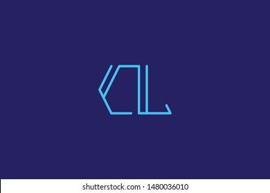 Creative Innovative Initial Letter logo CL LC. Minimal luxury Monogram. Professional initial design. Premium Business typeface. Alphabet symbol and sign.