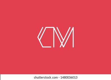 Creative Innovative Initial Letter logo CM MC. Minimal luxury Monogram. Professional initial design. Premium Business typeface. Alphabet symbol and sign.