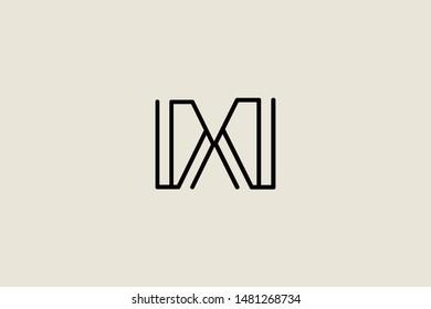Creative Innovative Initial Letter logo DD. Minimal luxury Monogram. Professional initial design. Premium Business typeface. Alphabet symbol and sign.