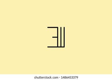 Creative Innovative Initial Letter logo EI IE E. Minimal luxury Monogram. Professional initial design. Premium Business typeface. Alphabet symbol and sign.