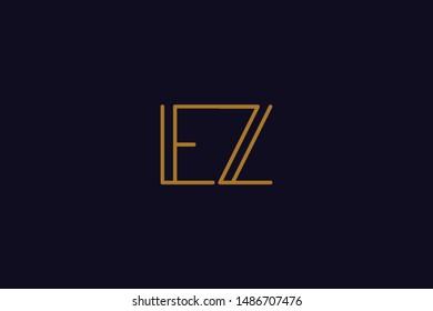 Creative Innovative Initial Letter logo EZ ZE. Minimal luxury Monogram. Professional initial design. Premium Business typeface. Alphabet symbol and sign.