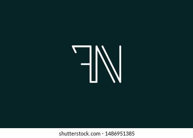 Creative Innovative Initial Letter logo FN NF. Minimal luxury Monogram. Professional initial design. Premium Business typeface. Alphabet symbol and sign.