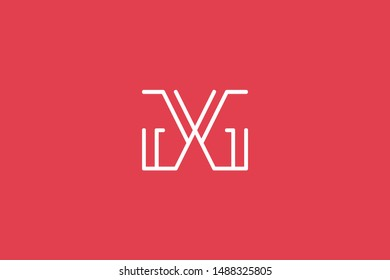 Creative Innovative Initial Letter logo GG. Minimal luxury Monogram. Professional initial design. Premium Business typeface. Alphabet symbol and sign.