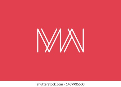 Creative Innovative Initial Letter logo MW WM. Minimal luxury Monogram. Professional initial design. Premium Business typeface. Alphabet symbol and sign.