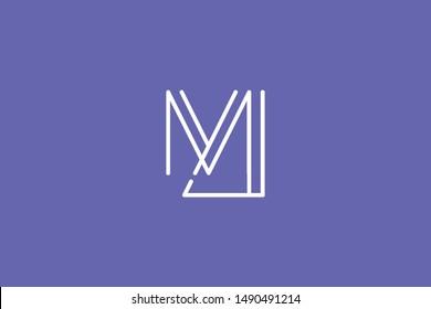 Creative Innovative Initial Letter logo MJ JM. Minimal luxury Monogram. Professional initial design. Premium Business typeface. Alphabet symbol and sign.