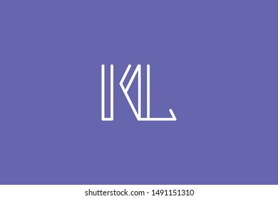 Creative Innovative Initial Letter logo KL LK. Minimal luxury Monogram. Professional initial design. Premium Business typeface. Alphabet symbol and sign.