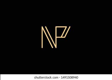 Creative Innovative Initial Letter logo NP PN. Minimal luxury Monogram. Professional initial design. Premium Business typeface. Alphabet symbol and sign.