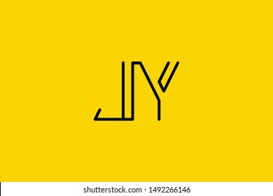Creative Innovative Initial Letter logo JY YJ. Minimal luxury Monogram. Professional initial design. Premium Business typeface. Alphabet symbol and sign.