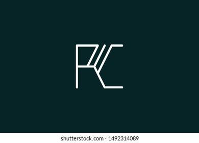 Creative Innovative Initial Letter logo PC CP. Minimal luxury Monogram. Professional initial design. Premium Business typeface. Alphabet symbol and sign.
