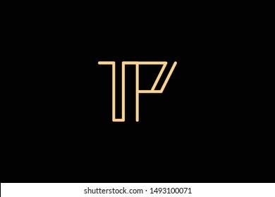 Creative Innovative Initial Letter logo TP PT. Minimal luxury Monogram. Professional initial design. Premium Business typeface. Alphabet symbol and sign.