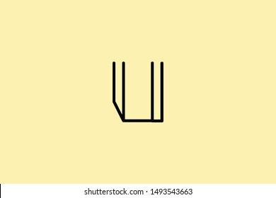 Creative Innovative Initial Letter logo U IU UI. Minimal luxury Monogram. Professional initial design. Premium Business typeface. Alphabet symbol and sign.
