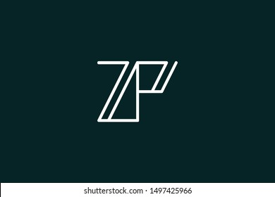 Creative Innovative Initial Letter logo ZP PZ. Minimal luxury Monogram. Professional initial design. Premium Business typeface. Alphabet symbol and sign.