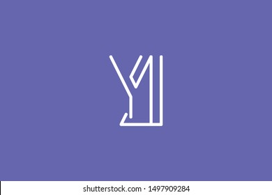 Creative Innovative Initial Letter logo YJ JY. Minimal luxury Monogram. Professional initial design. Premium Business typeface. Alphabet symbol and sign.