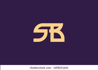 Creative Innovative Initial Letter logo SB BS. Minimal luxury Monogram. Professional initial design. Premium Business typeface. Alphabet symbol and sign.