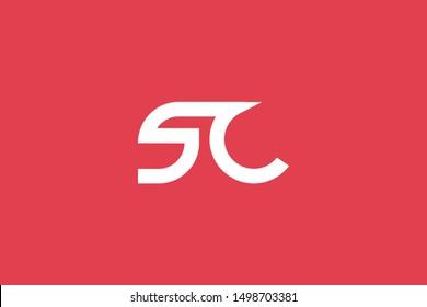 Creative Innovative Initial Letter logo SC CS. Minimal luxury Monogram. Professional initial design. Premium Business typeface. Alphabet symbol and sign.