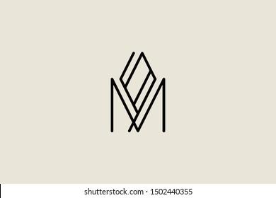 Creative Innovative Initial Letter logo MO OM. Minimal luxury Monogram. Professional initial design. Premium Business typeface. Alphabet symbol and sign.