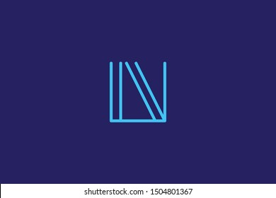 Creative Innovative Initial Letter logo LV VL. Minimal luxury Monogram. Professional initial design. Premium Business typeface. Alphabet symbol and sign.
