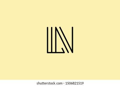 Creative Innovative Initial Letter logo LN NL. Minimal luxury Monogram. Professional initial design. Premium Business typeface. Alphabet symbol and sign.