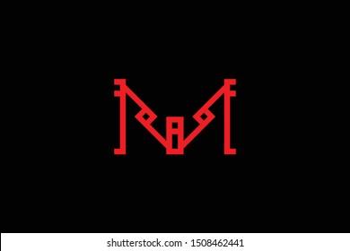 Creative Innovative Initial Letter logo M MM. Minimal luxury Monogram. Professional initial design. Premium Business typeface. Alphabet symbol and sign.