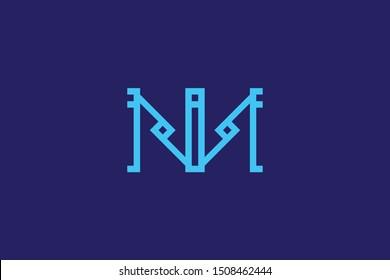 Creative Innovative Initial Letter logo NN M. Minimal luxury Monogram. Professional initial design. Premium Business typeface. Alphabet symbol and sign.