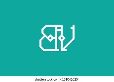 Creative Innovative Initial Letter logo BV VB. Minimal luxury Monogram. Professional initial design. Premium Business typeface. Alphabet symbol and sign.