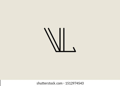 Creative Innovative Initial Letter logo VL LV. Minimal luxury Monogram. Professional initial design. Premium Business typeface. Alphabet symbol and sign.