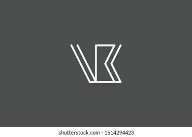 Creative Innovative Initial Letter logo VB BV. Minimal luxury Monogram. Professional initial design. Premium Business typeface. Alphabet symbol and sign.